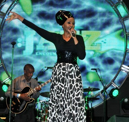 Simphiwe Dana performing at the Old Mutual Jazz Fest in Windhoek, Namibia