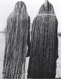 Ovambo traditional hairstyle, Namibia