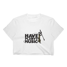 Have Plenty Music Crop Top White have plenty music