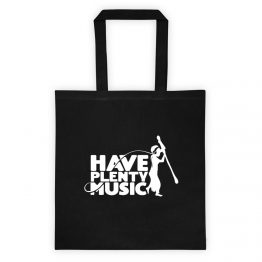 Have Plenty Music Tote Bag White