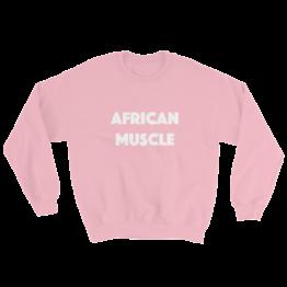 African Muscle Sweatshirt Pink