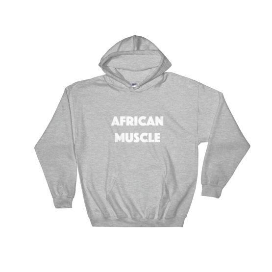 African Muscle Hooded Sweatshirt